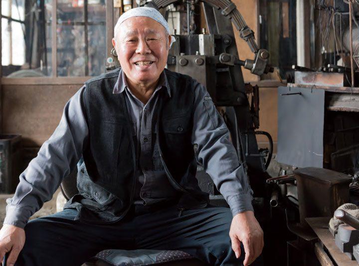 信州打刃物 伝統工芸士 畑山充吉さん